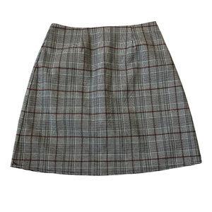love, Fire XS Gray Pencil Skirt Glen Check
